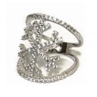 انگشتر زنانه سیلور طرح برف الماس