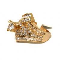 انگشتر گلد مدرن نگین الماس زنانه