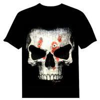 تیشرت طرح اسکلت شبرنگ دار skull