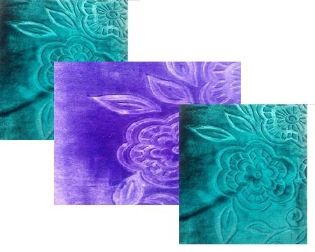 پتو گل برجسته رنگی 2 نفره