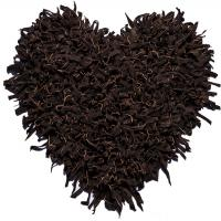 طرح قلب ست اشبالت قهوه ای سوخته