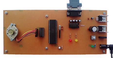 کنترل استپ موتور با کامپیوتر از طریق پورت RS232