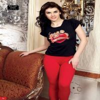تیشرت  شلوار زنانه کد 6920 آلپینای