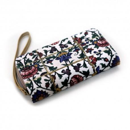 کیف چرم خورجینی به همراه کیف پول