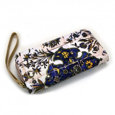 کیف چرم کلاچ به همراه کیف پول بند دار طرح پرستو
