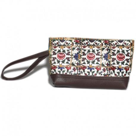 کیف دوشی زنانه به همراه کیف آرایش لوتوس