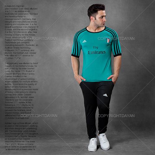 ست تیشرت و شلوار مردانه Adidas مدل Resen