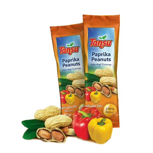 بادام زمینی طعم پاپریکا تانسو