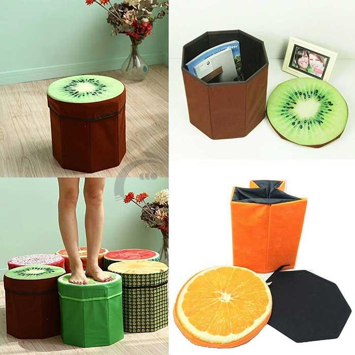 صندلی و باکس جمع شونده سه بعدى طرح میوه