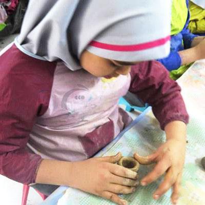 گل رس کودکان به همراه فیلم آموزش مجسمه سازی