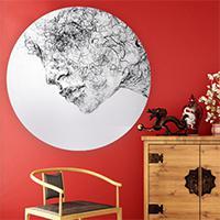 بوم نقاشی دایره قطر 31 سانتی