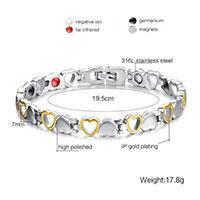 دستبند مغناطیسی استیل قلبی
