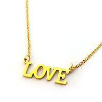 گردنبند استیل LOVE طرح طلا - مدل 11