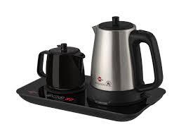 قوری چینی  به رنگ مشکی (ذغالی) چایساز و دم آور گرم نوش پارس خزر به همراه فیلتر جدا کننده ت