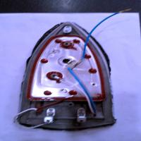 کفی المنت حرارتی به رنگ طوسی اتو پارس خزر مدل SI-602