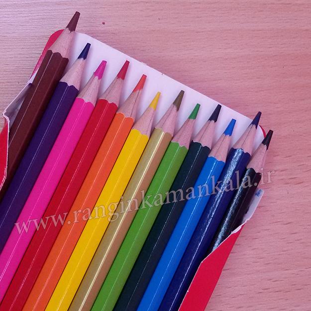مداد رنگی 12 رنگ وک