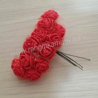 گل فوم توردار-  قرمز