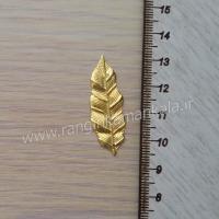برگ فلزی چین دار طلایی