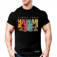 تیشرت هاوایی مشکی لارج