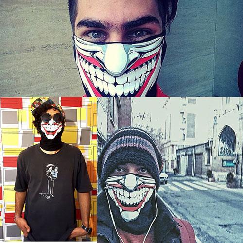 ماسک طرح اسکلت(چاپ ایتالیا 2016 )