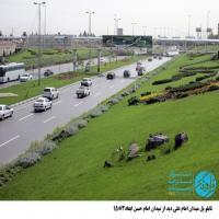 تابلو پل عابر پیاده واقع در میدان امام علی (ع) - نمای (میدان امام حسن(ع))