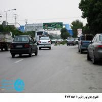 تابلو پل عابر پیاده در بلوار توس مشهد (نمای میدان فهمیده)