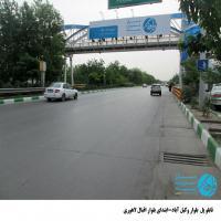 تابلو پل عابر پیاده واقع در بلوار وکیل آباد - ابتدی اقبال لاهوری-نمای (سه راه طرقبه)