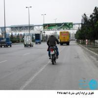 تابلو پل عابر پیاده واقع در بزرگراه آزادی مشهد - آزادی 105(دید از قوچان)