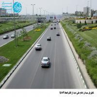تابلو پل عابر پیاده واقع در میدان امام علی (ع) - نمای (میدان قائم(عج))