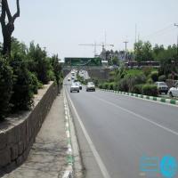 تابلو پل عابر پیاده در بلوار مصلی مشهد (نمای بلوار مصلی)