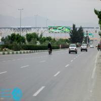 تابلو پل عابر پیاده واقع در بزرگراه غدیر - بین میدان غدیر و بلوار مصلی(نمای میدان غدیر)