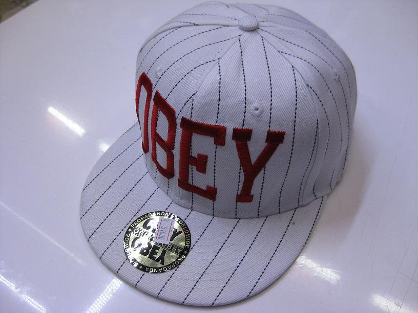 کلاه رپ obey کتان سفید