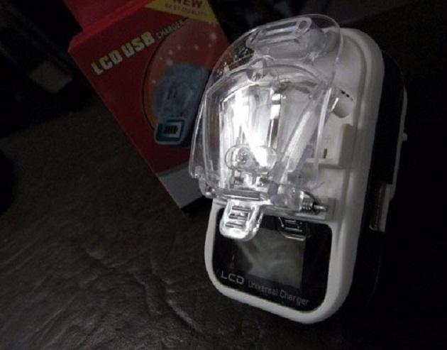 شارژر همه کاره باتری موبایل و دوربین :LCD دار