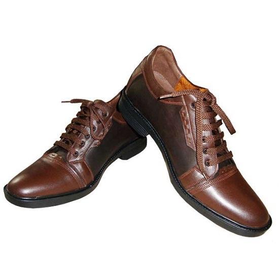 کفش پاشنه مخفی مدل کلارک رنگ قهوه ای