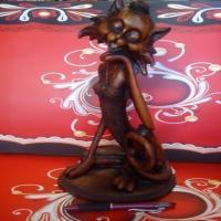 مجسمه گربه فشن طرح چوب (کد 516)