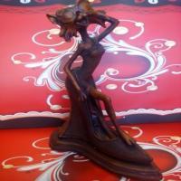 مجسمه گربه فشن طرح چوب ( کد 517)