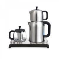 چای ساز و قهوه ساز با قوری استیل اضافه مدل NX-12TD