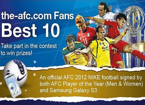 توضیحات مراسم بهترین های فوتبال آسیا سال 2012
