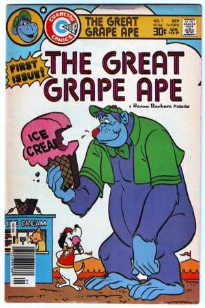 خرید کارتون زیبا و خاطره انگیز گوریل انگوری و بیگلی بیگلی
