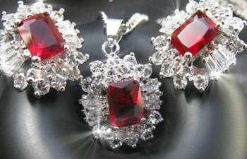 خرید نیم ست گردنبند و گوشواره Ruby, فروش نیم ست روبی