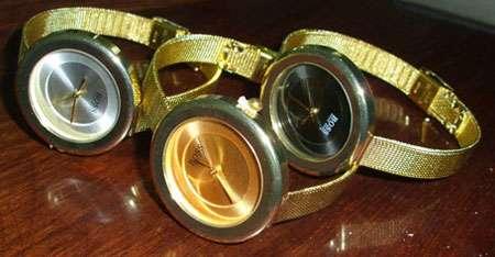 خرید پستی ساعت Boss بوس بند حصیری طلائی نازک| ساعت boss بند طلائی