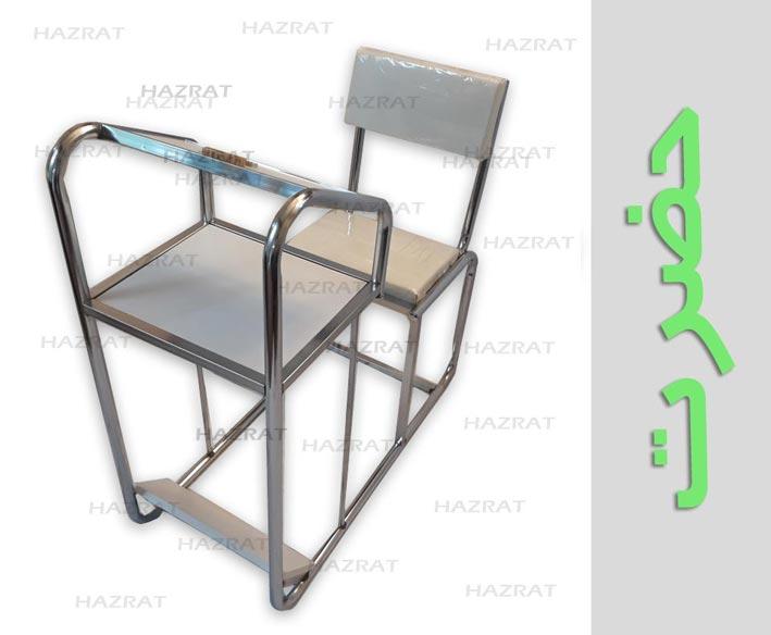 صندلی ارگونومیک پشتی دار چرمی قید دار