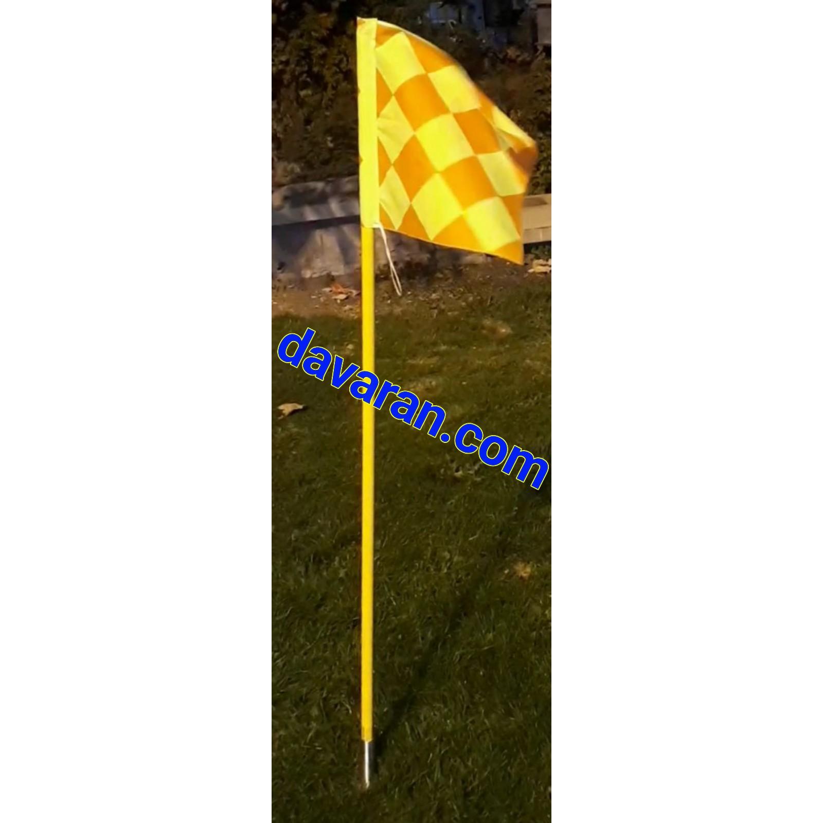 پرچم کرنر فنری زمین فوتبال